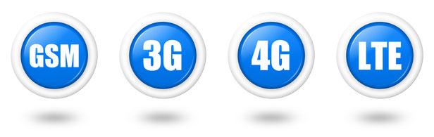 2G, 3G, 4G LTE