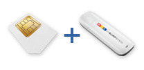 Surfstick und SIM Karte im Paket